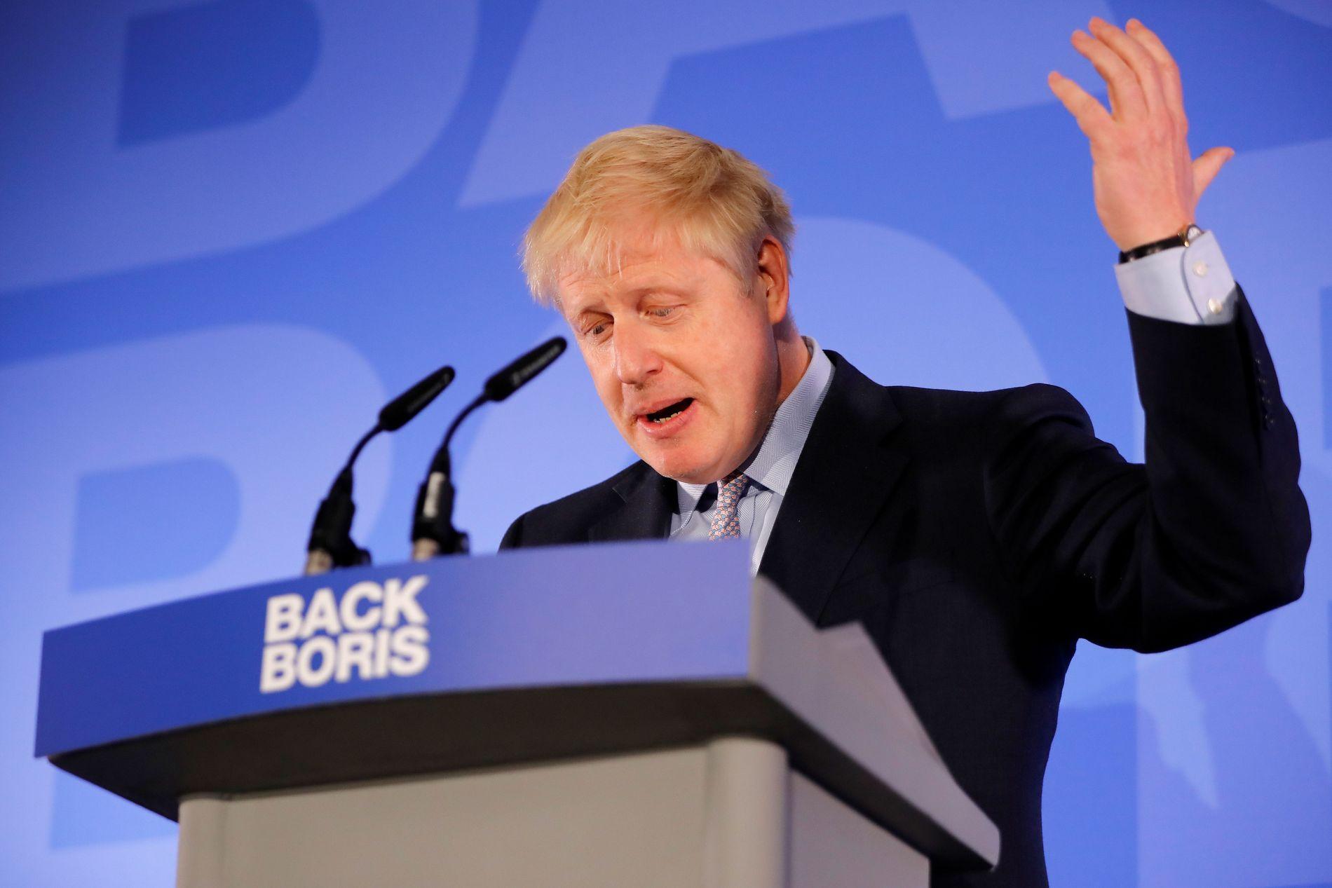 BACK BORIS: Tidligere utenriksminister Boris Johnson lanserte offisielt sin kampanje i London onsdag.