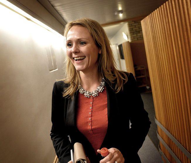 BLIR KULTURMINISTER: Stortingsrepresentant Linda Helleland, her fotografert i Stortinget dagen før utnevnelsen.