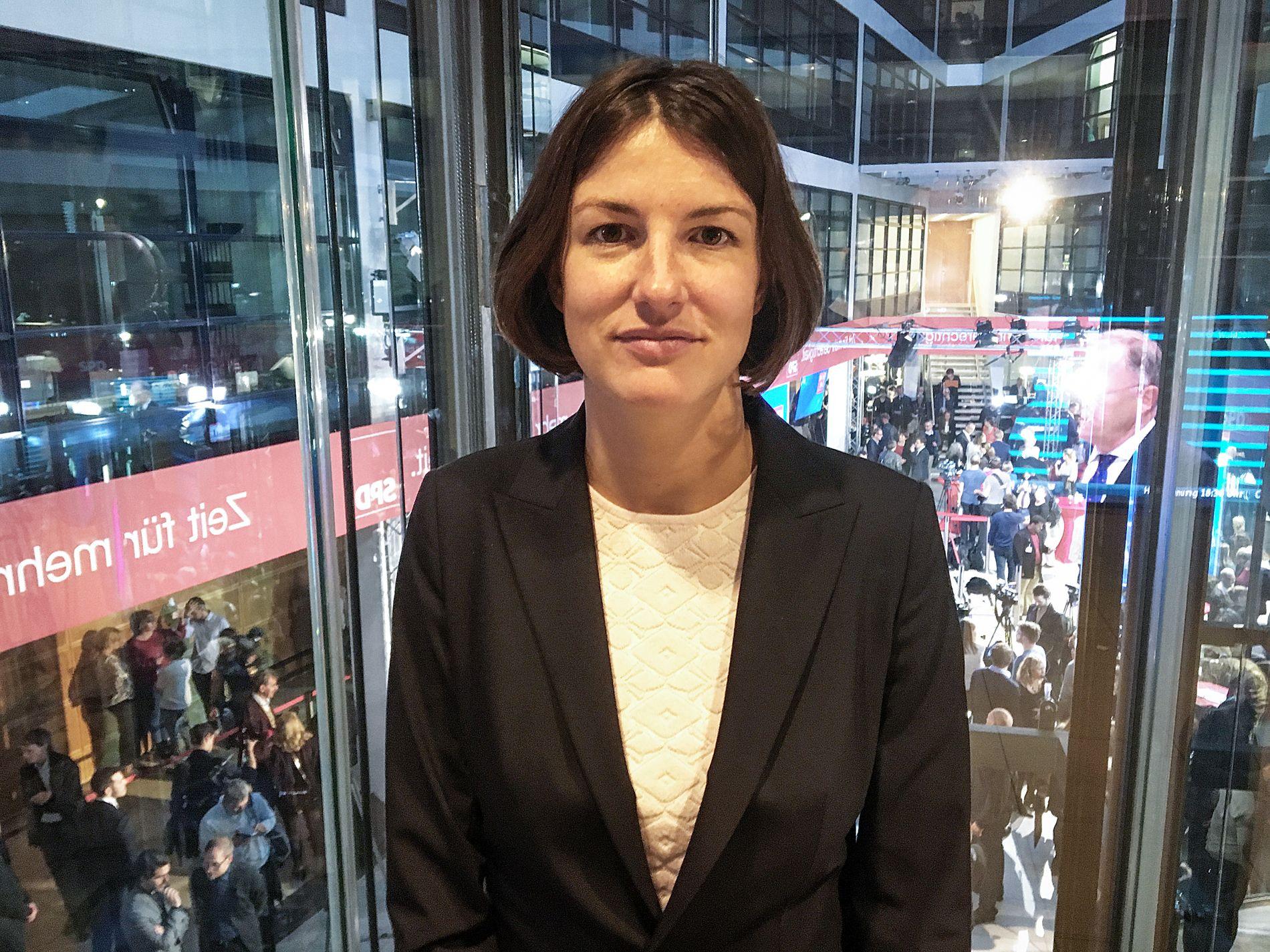 IKKE OVERRASKET: Kajsa Borgnäs fra ledelsen i fagforeningen Arbeit und Umwelt er ikke overrasket over sosialdemokratenes nederlag.