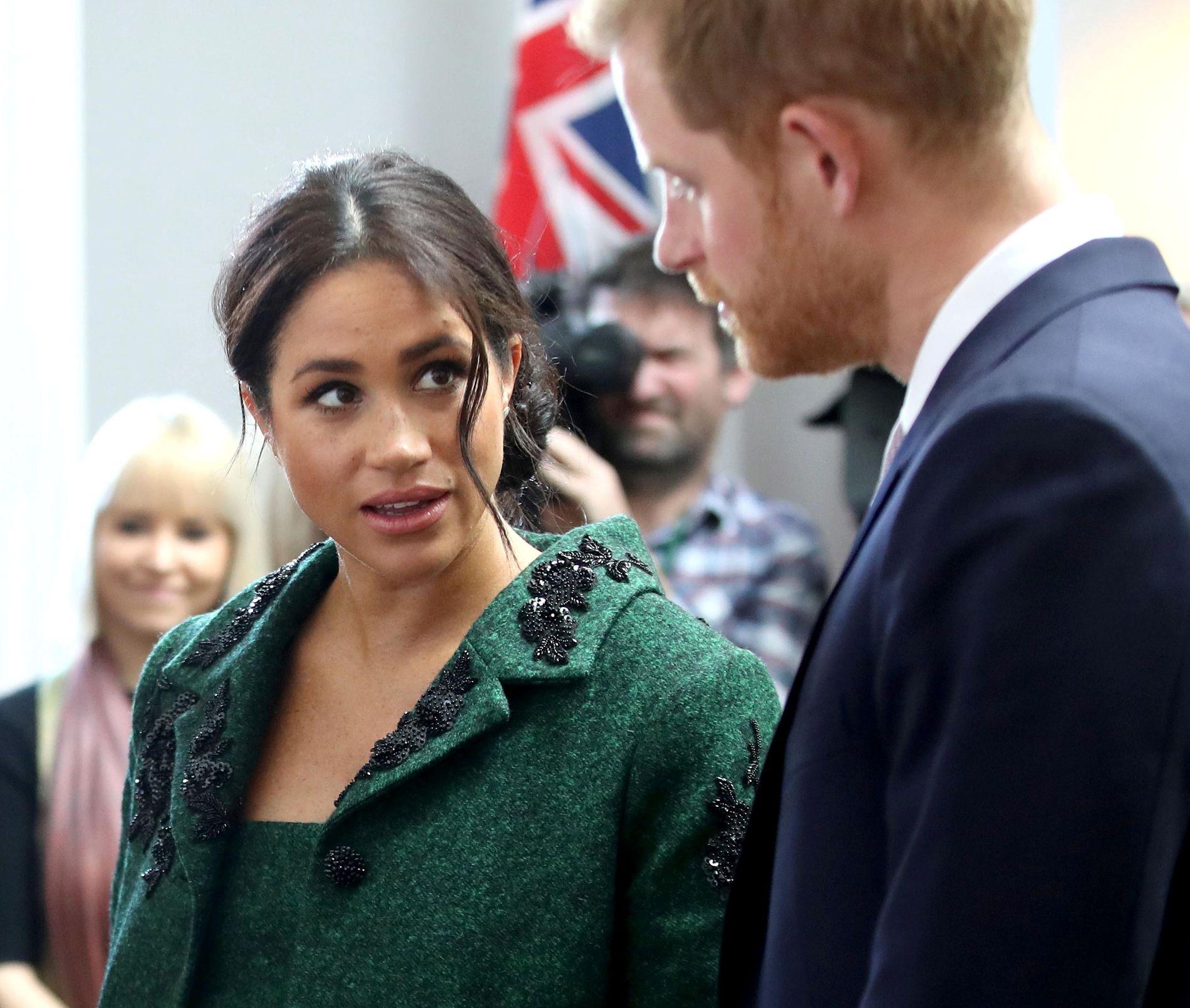 FORELDRE: Hertuginne Meghan og prins Harry på et offisielt oppdrag i London i mars.