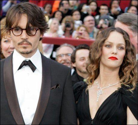 HOLDT SAMMEN I 14 ÅR: Filmstjerneparet Johnny Depp og Vanessa Paradis - her på Oscar-utdelingen i 2008. Foto: AP