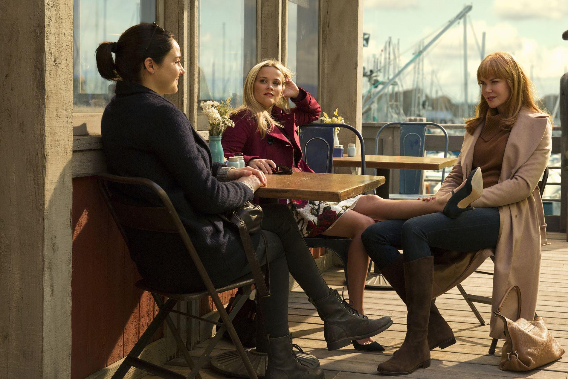 KVINNEKLUBBEN: Shailene Woodley, Reese Witherspoon og Nicole Kidman i «Big Little Lies».