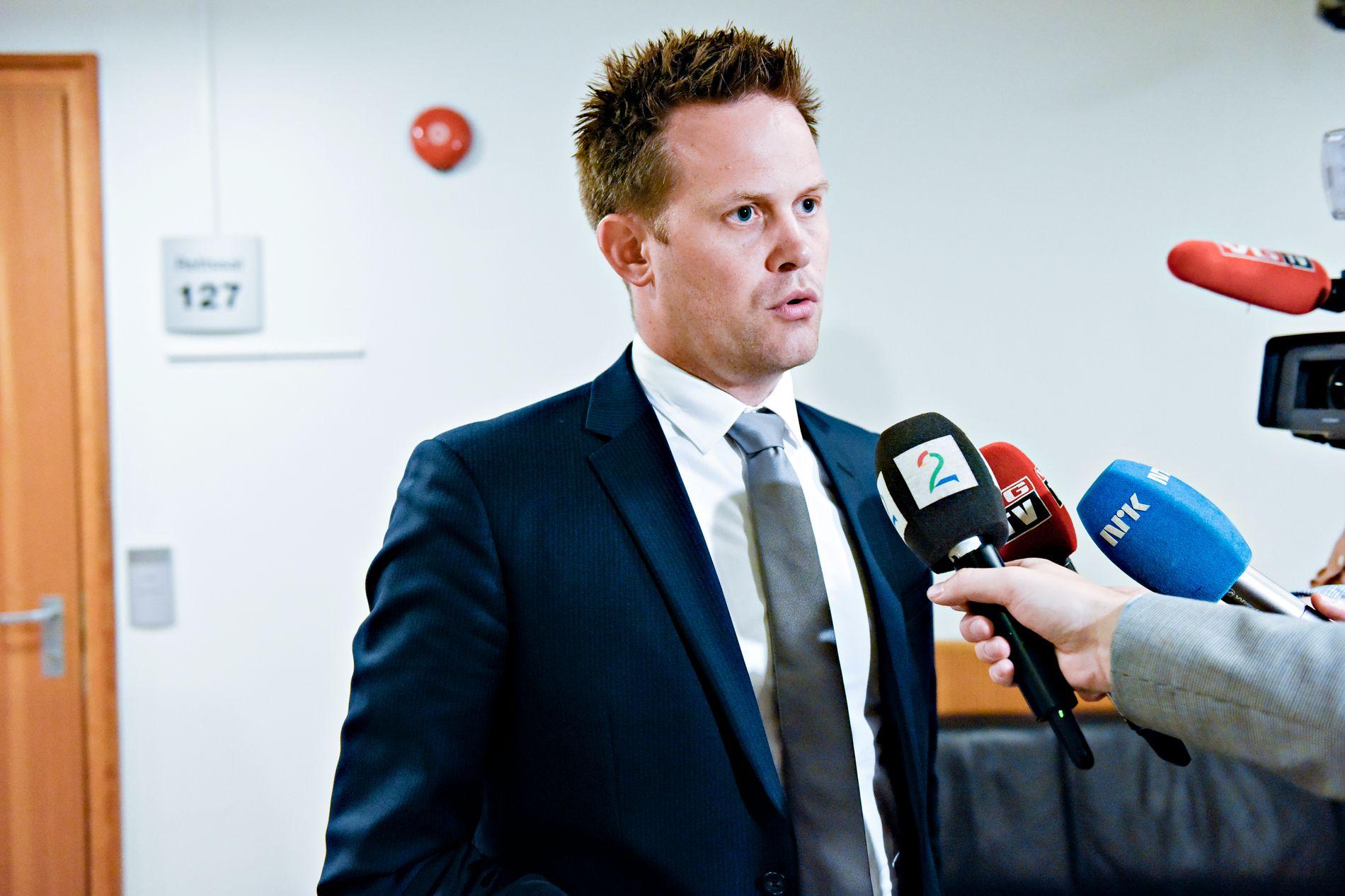 NY PÅGRIPELSE: Politiadvokat Sturla Henriksbø avbildet i forbindelse med fengslingsmøtet i Oslo tingrett i forrige uke.