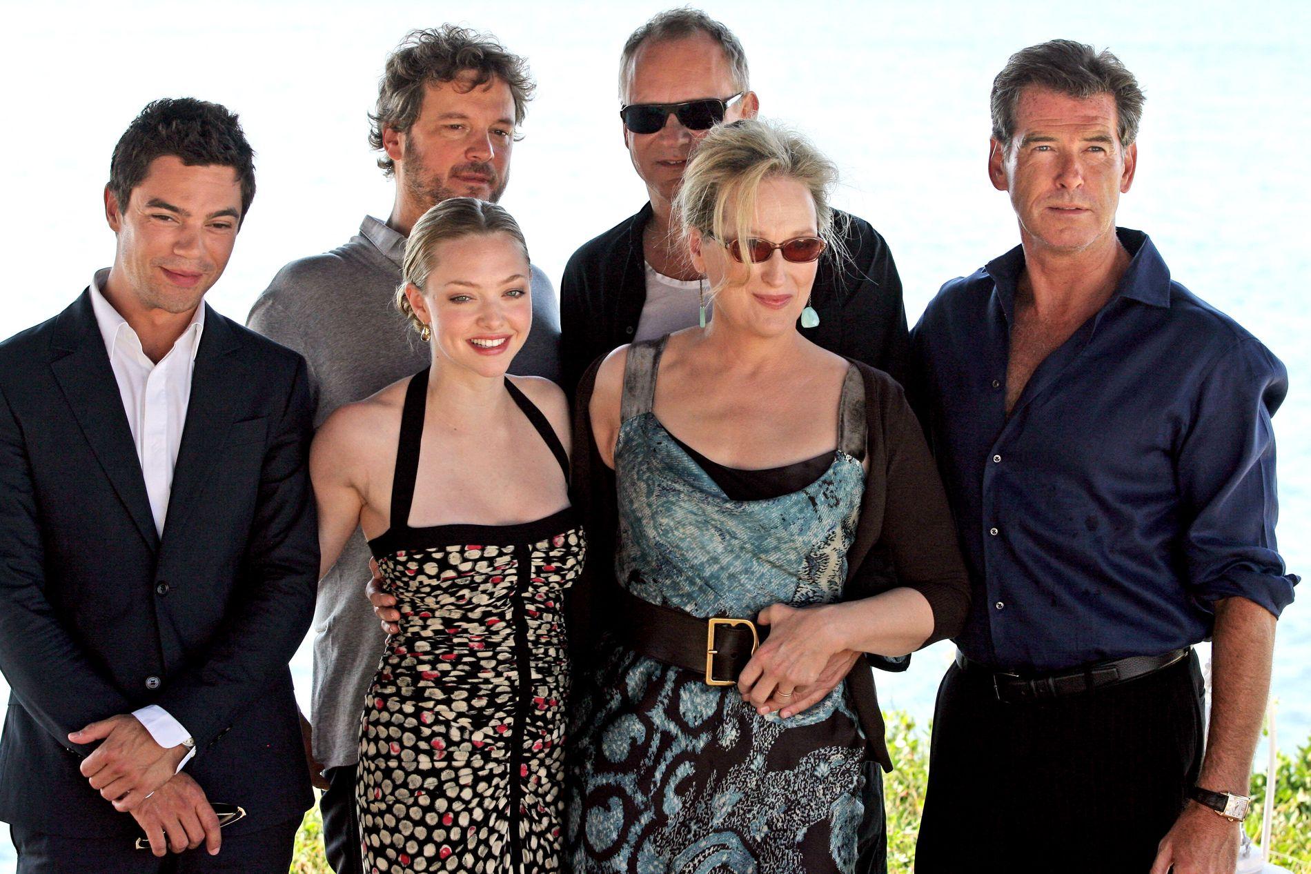 Meryl Streep og Amanda Seyfried på promoteringsturné for den første «Mamma Mia!» filmen. Oppfølgeren har premiere på fredag.