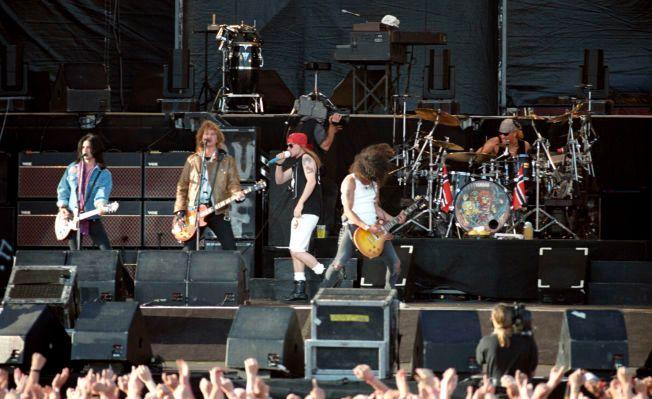 KLASSISK ROCK: Guns n' Roses på Valle Hovin i 1993.
