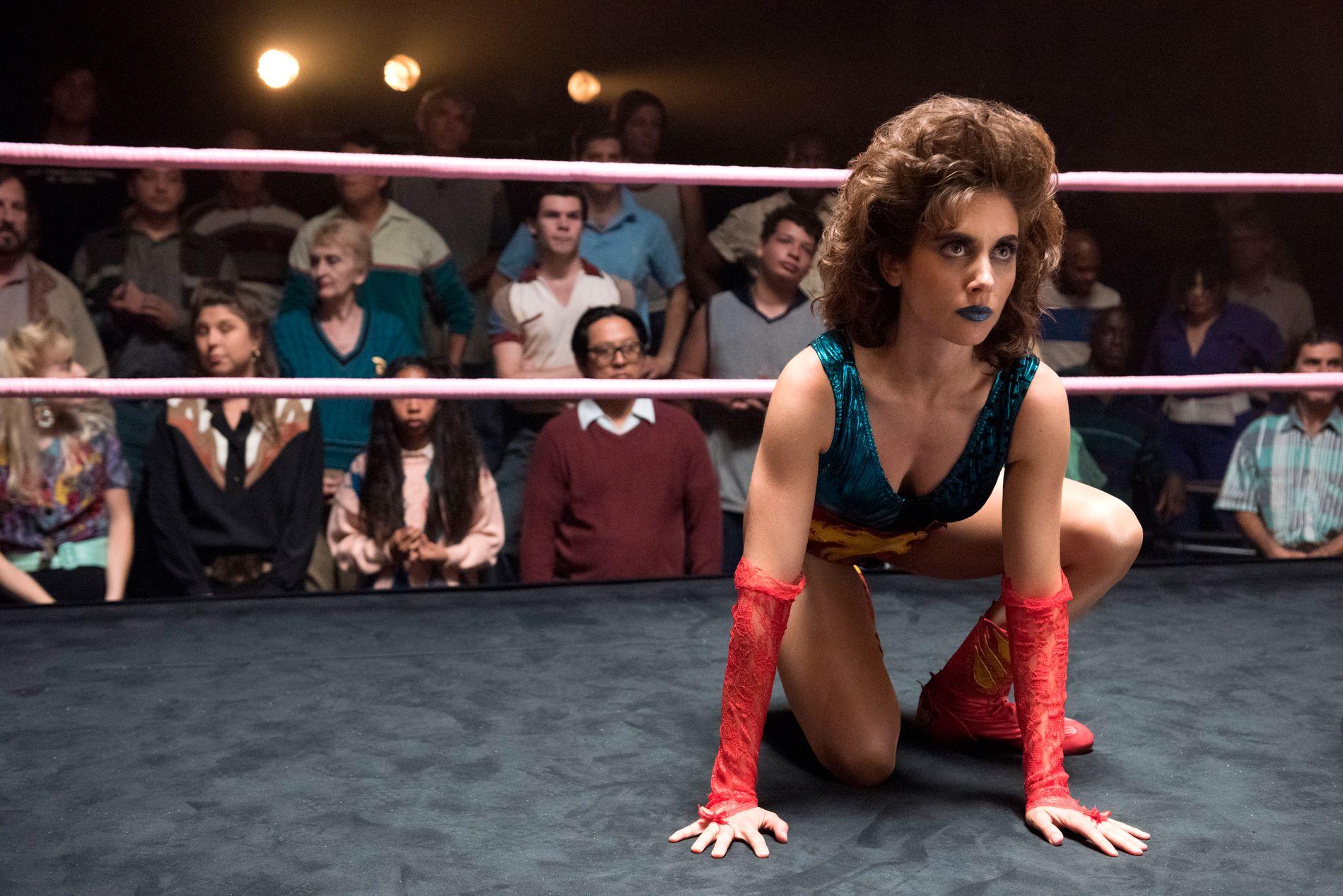 WRESTLING: Alison Brie som Ruth i «Glow».