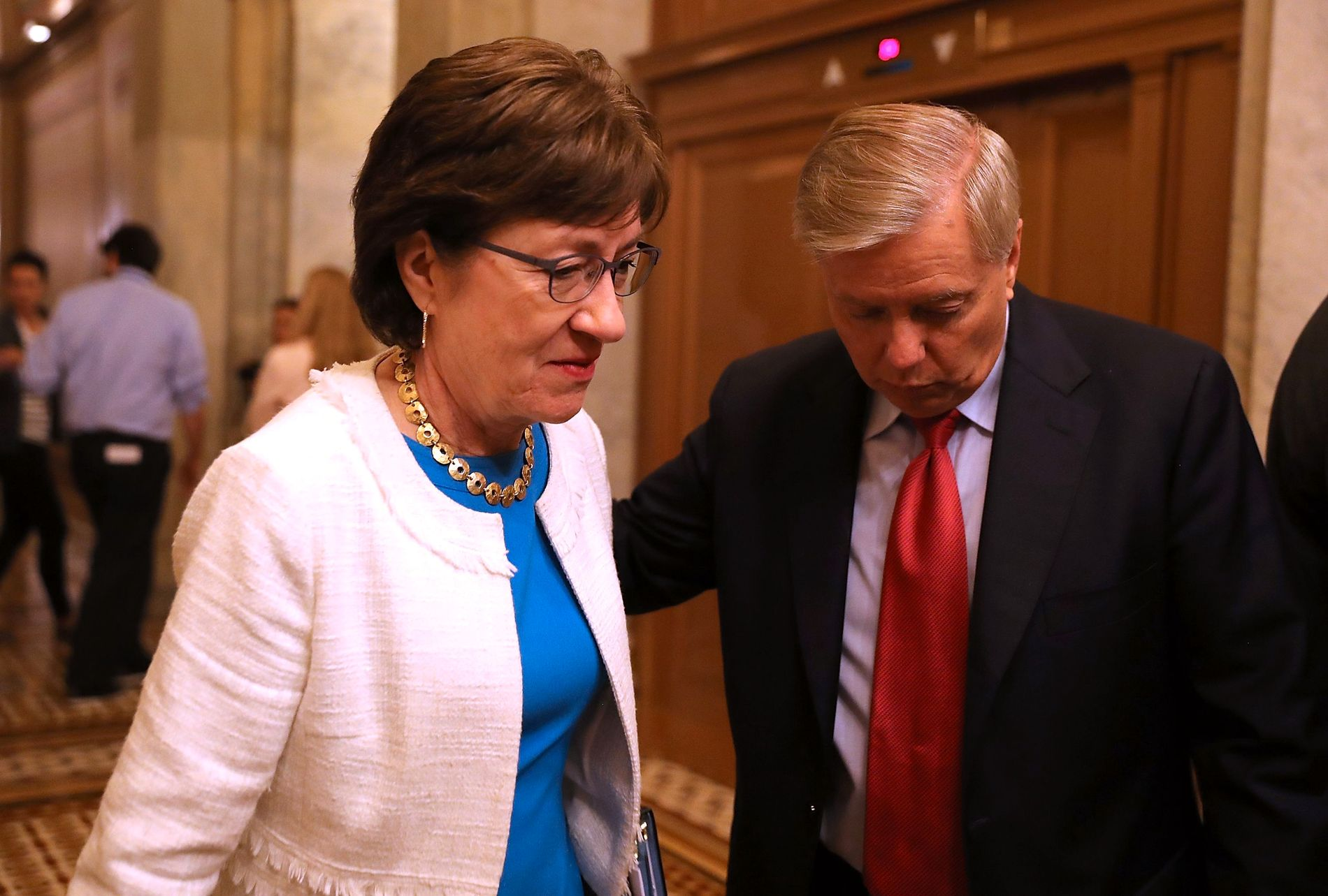 HELSE-TRØBBEL: Maine-senator Susan Collins stikker kjepper i hjulene for det nye forslaget til helsereform, som senator Lindsey Graham står bak.