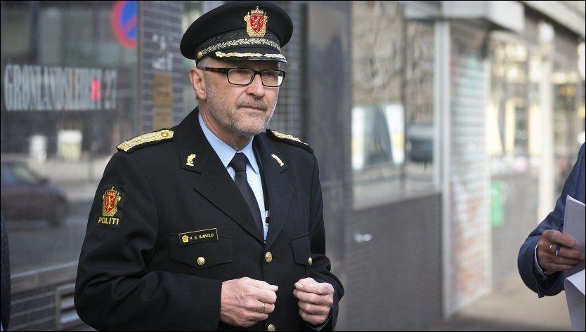 FORNØYD: Politimester Hans Sverre Sjøvold gleder seg over nedgangen i ungdomskriminaliteten. Foto: Jan Petter Lynau, VG