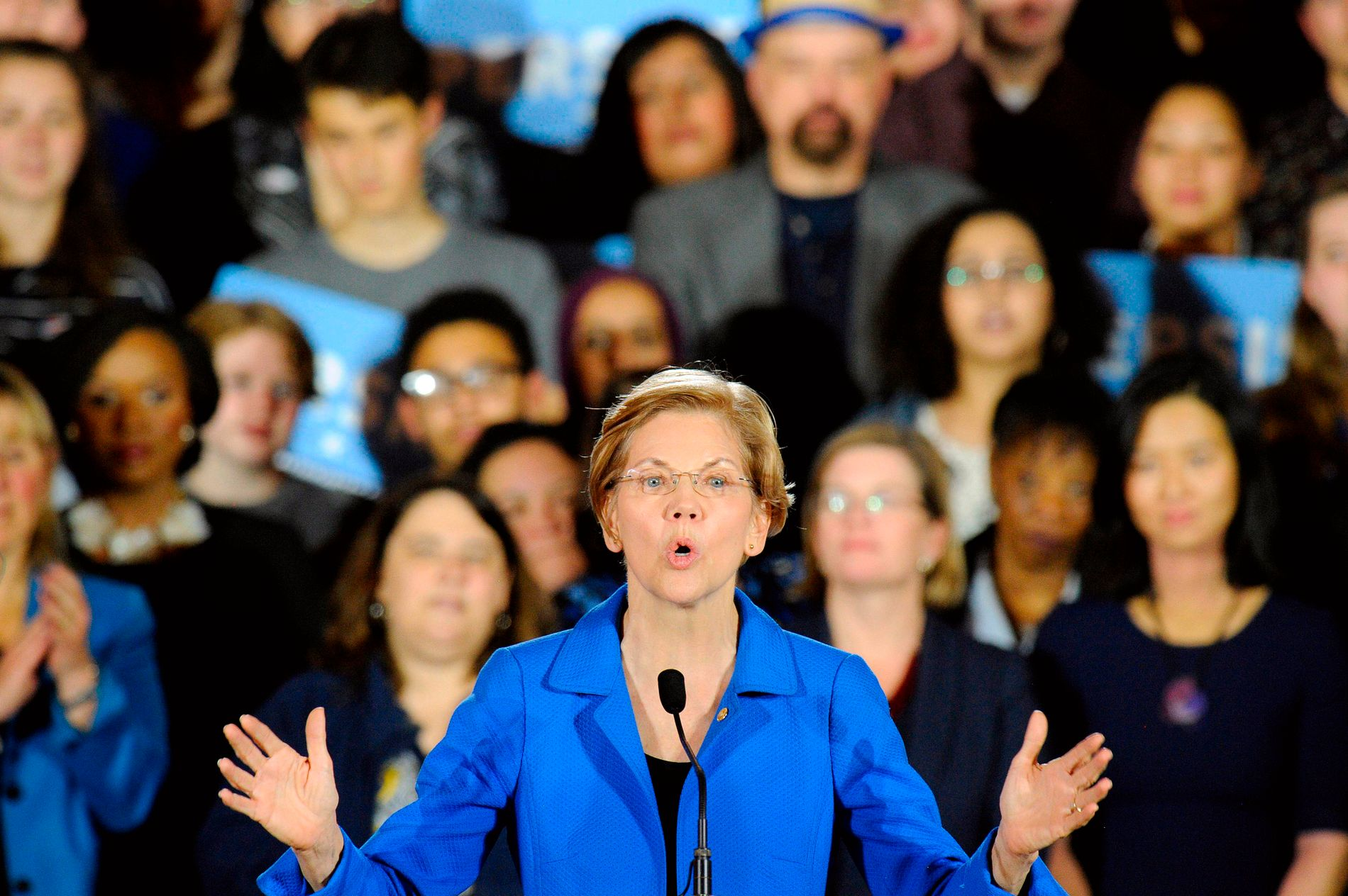 UR-STRID: Elizabeth Warren er fortsatt favoritt for mange til å vinne Demokratenes primærvalg.