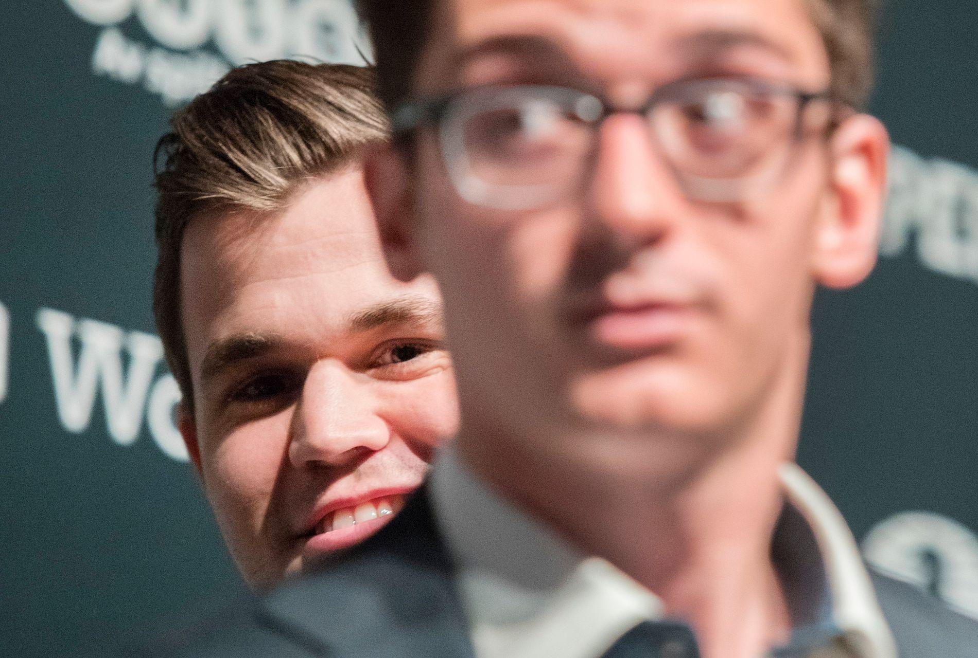 I KANONFORM: Magnus Carlsen leverte et strålende hat trick i omspillet mot Fabiano Caruana.