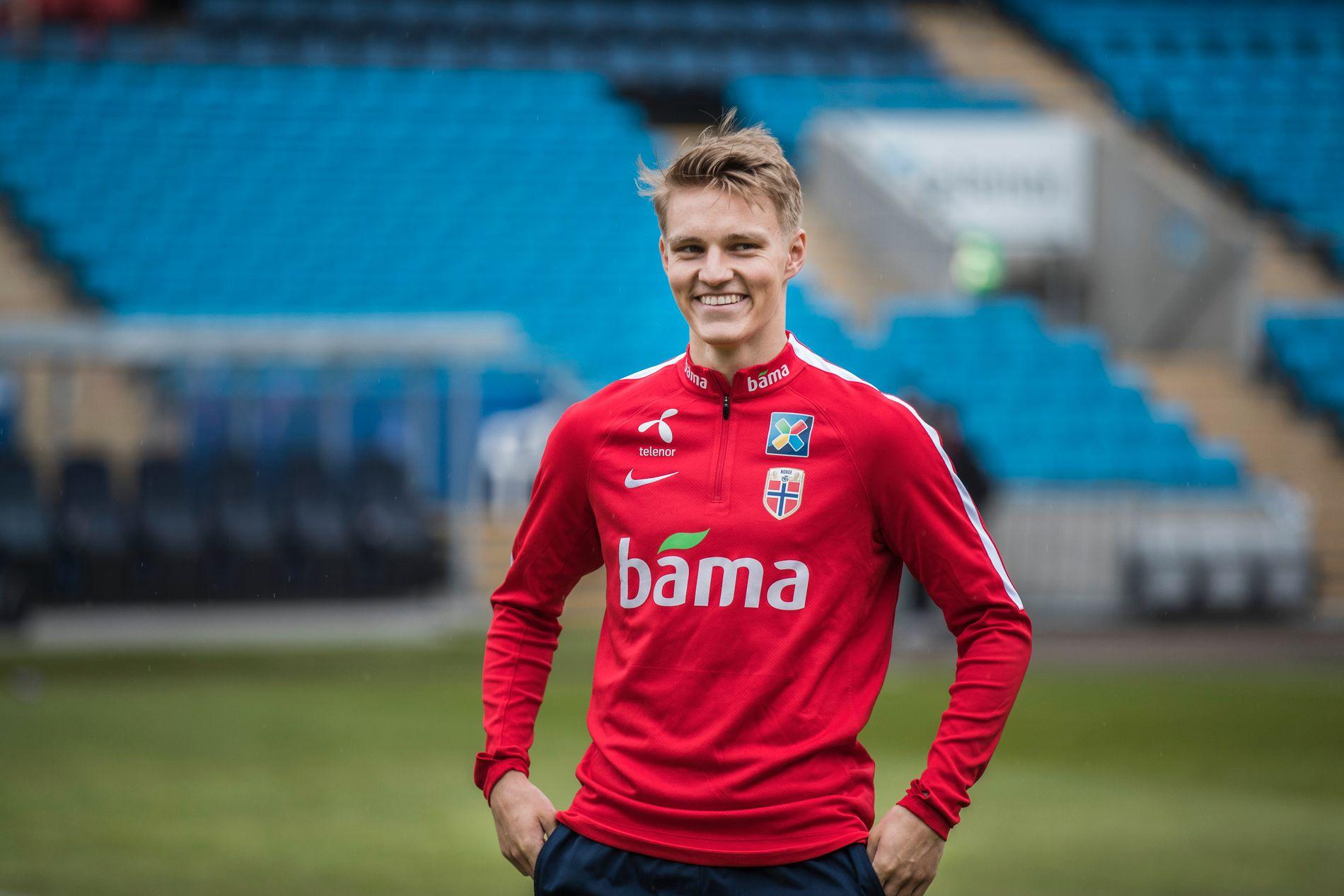 NYTT UTLÅN? Aviser vil ha det til at Martin Ødegaard spiller i Vitesse den neste sesongen. Her på landslagstrening før sommerpausen.