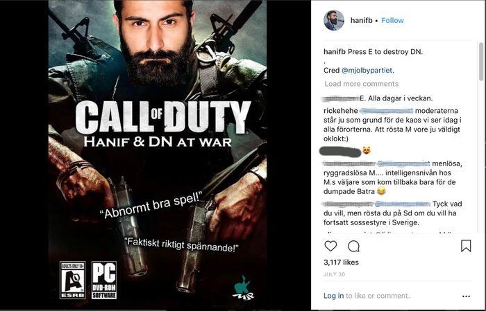 OMSTRIDT POST: Slik fremstår riksdagsrepresentanten på sin Instagram-konto.