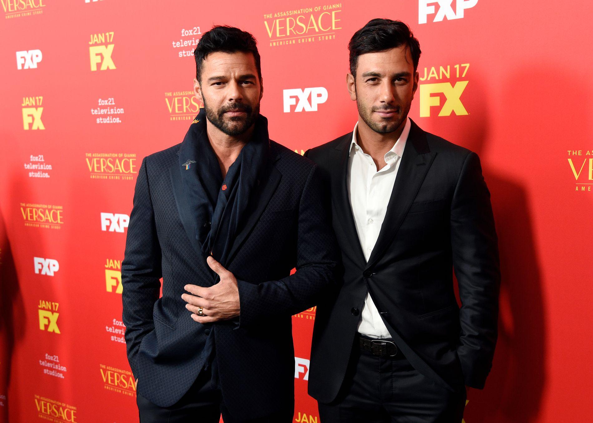 PÅ PREMIERE: Ricky Martin og Jwan Yosef på førvisning av TV-serien «The Assassination of Gianni Versace: American Crime Story» i Hollywood mandag.