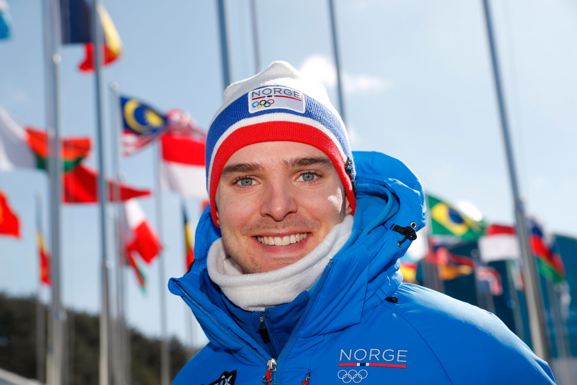 I VINDEN: Jørgen Graabak er klar for ny gullkamp i OL-sammenheng. Her er han avbildet i deltagerlandsbyen.
