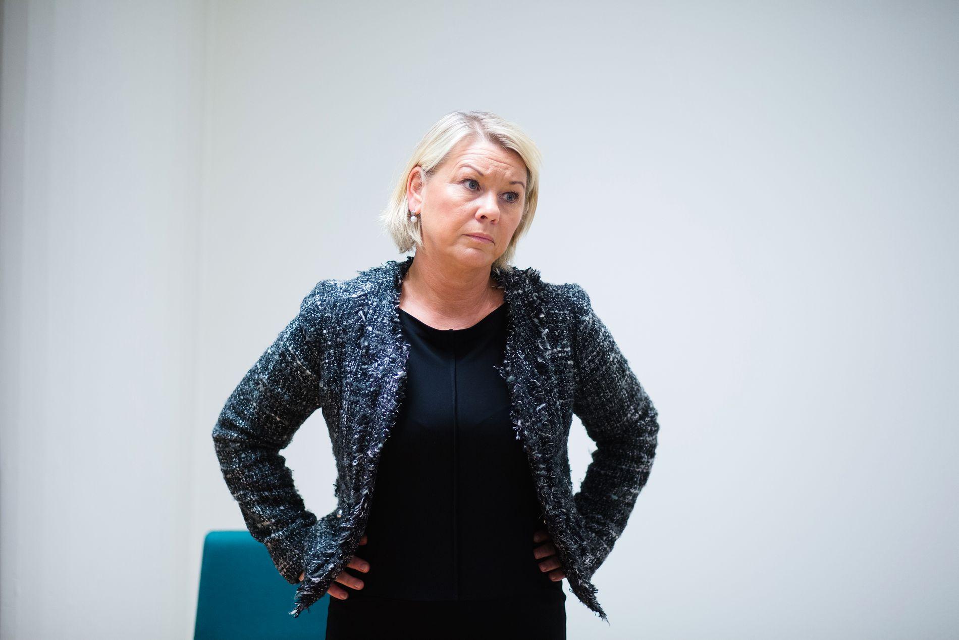 FÅR TROMS/FINNMARK I FANGET: Kommunal- og moderniseringsminister Monica Mæland (H) får besøk fra både Troms og Finnmark på sitt kontor i Akersgata i Oslo torsdag.