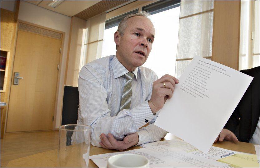 LIGG UNNA: Kommunalminister Jan Tore Sanner (H) har hørt på kommunene og avvist alle innsigelsessakene siden han ble statsråd.