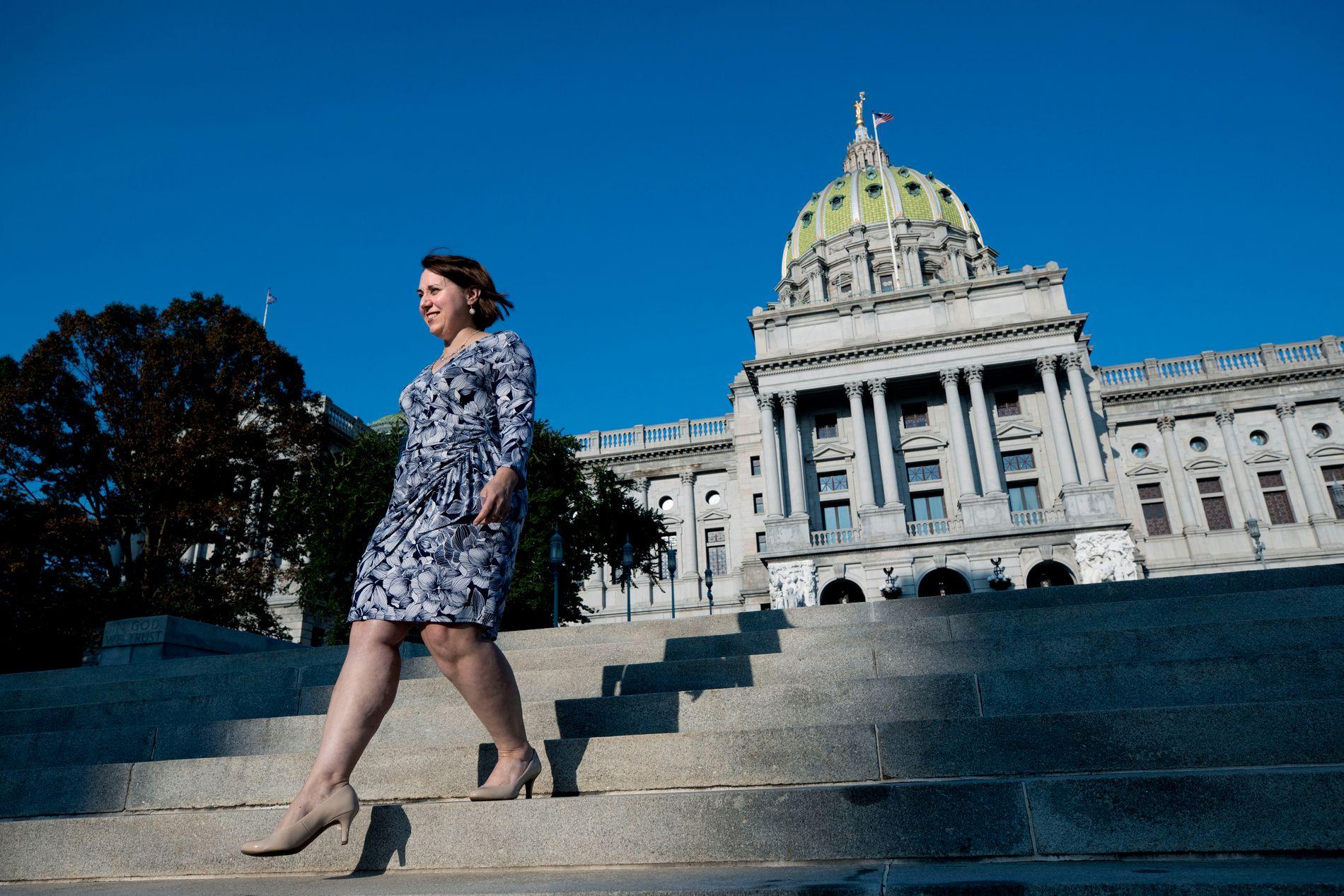 GODE TIDER: Rebecca Oyler forsøker å påvirke lokalpolitikerne i Pennsylvania til å ta enda flere grep for å beskytte og belønne småbedriftseiere.