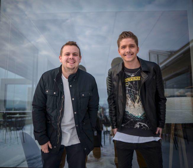 SE OPP FOR DISSE: Karl Fredrik Dahl (til venstre) og Adrian Emile i Innertier har samarbeidet med så forskjellige artister som Marcus & Martinus og Staysman & Lazz. På sin nye single «Si ja!» opererer de på egen hånd, og videoen kan du se her på VGNett.