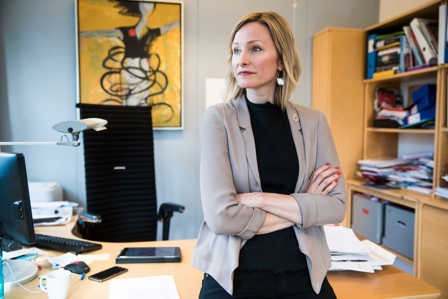 I KONFLIKT: Byråd for oppvekst og kunnskap i Oslo, Inga Marte Thorkildsen (SV) undersøker nå arbeidsmiljøet i utdanningsetaten, en etat hun har hatt samarbeidsutfordringer med.