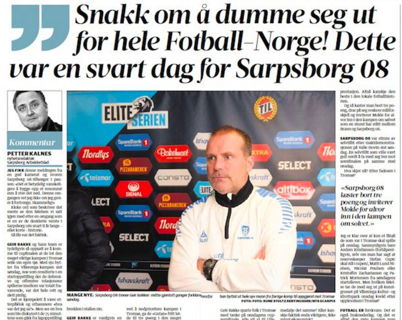 FAKSIMILE: Sarpsborg Arbeiderblad tirsdag 19. september.