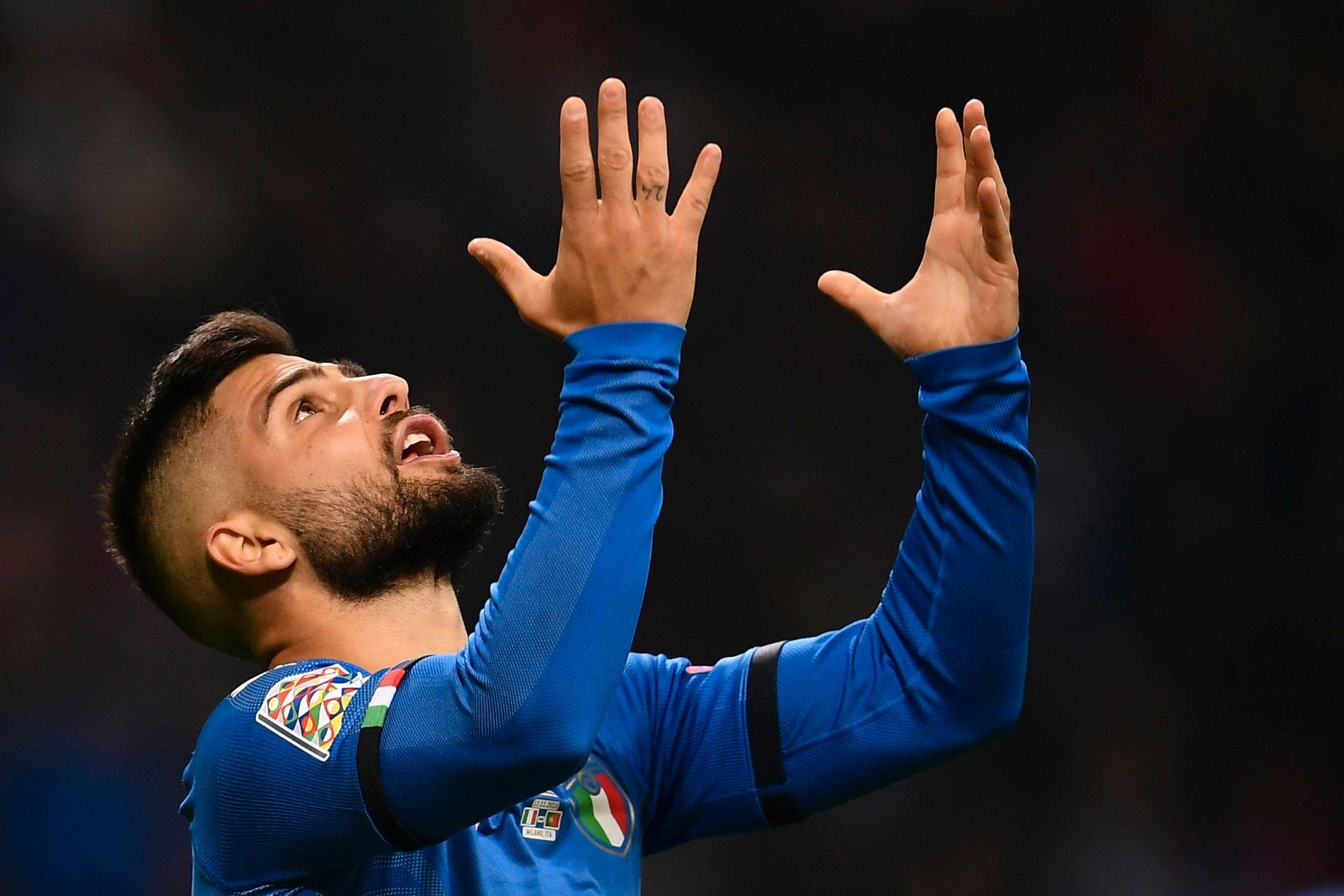 FORTVILER: Italias Lorenzo Insigne var en av mange på hjemmelaget som ikke fikk det til å stemme mot Portugal.