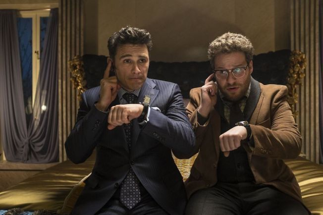 I TRØBBEL: James Franco og Seth Rogen spiller hovedrollene i «The Interview».