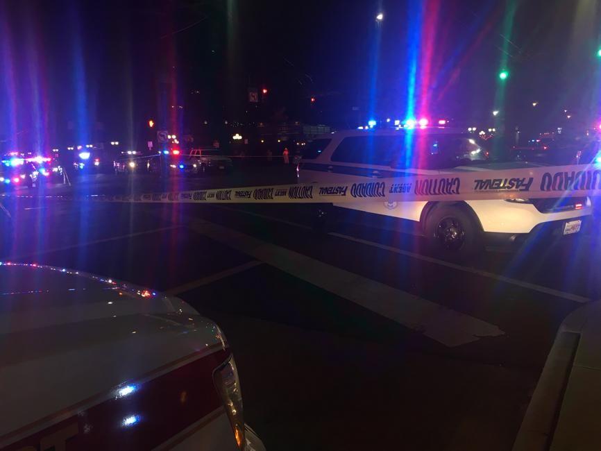 SPERRINGER: Politiet har sperret av et større området i Dayton.