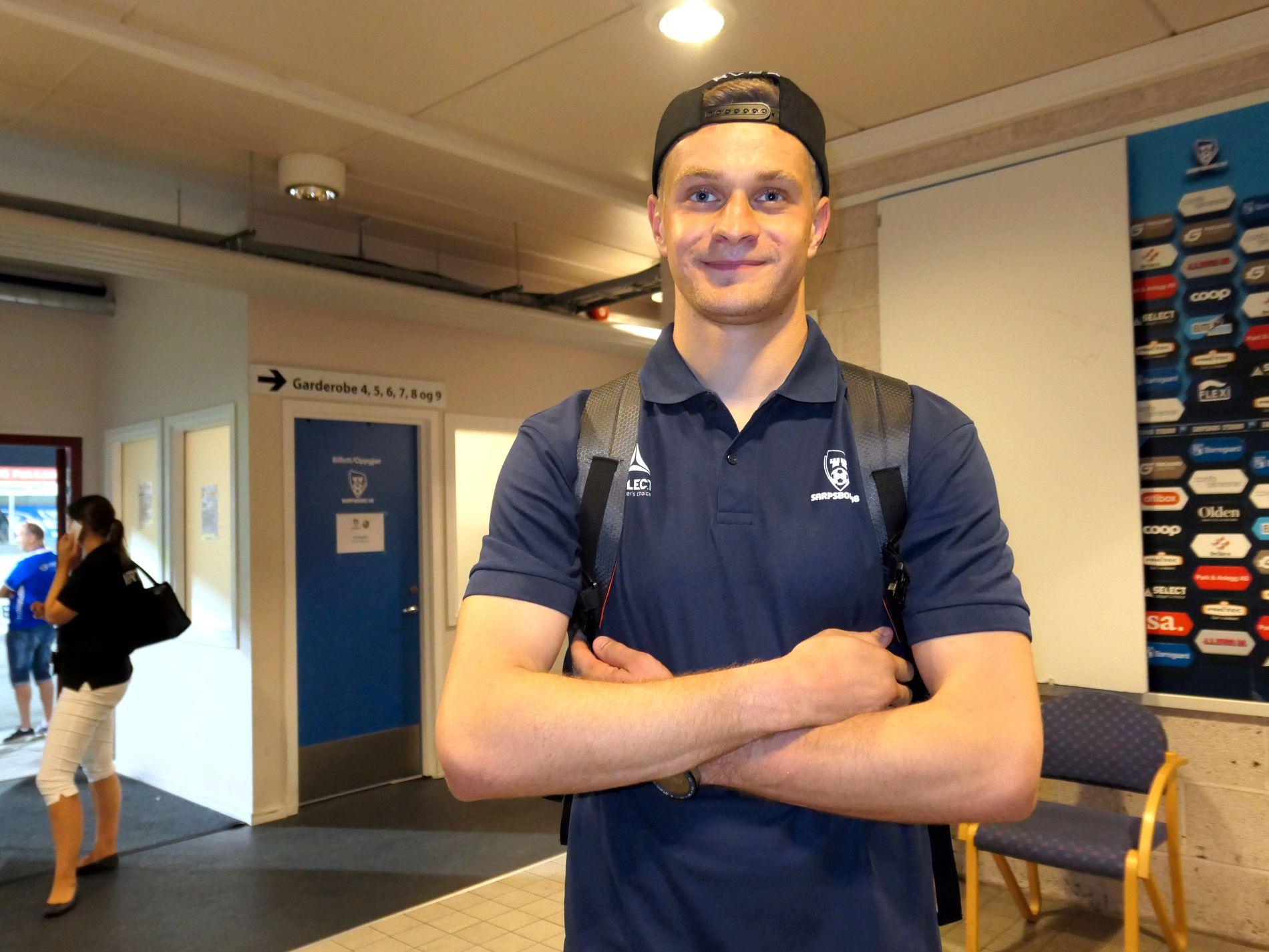 NY I SARPSBORG: Aleksander Vasjutin (23) kom til Østfold for tre uker siden.