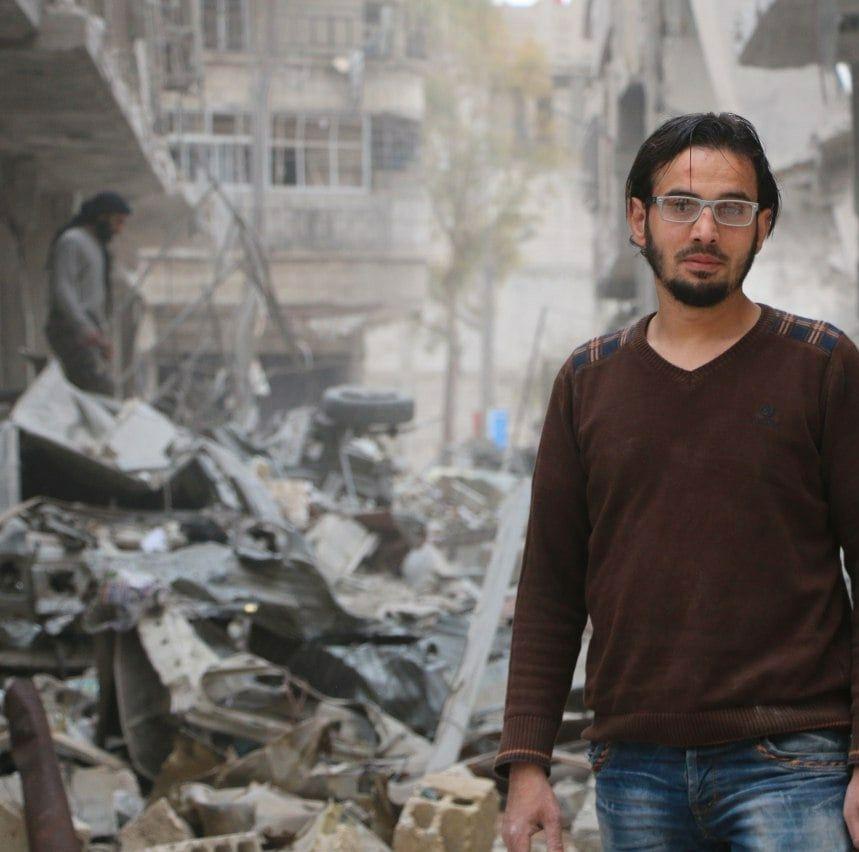 FRIVILLIG: Abdulah al Hafi lever i Saqba i Øst-Ghouta.