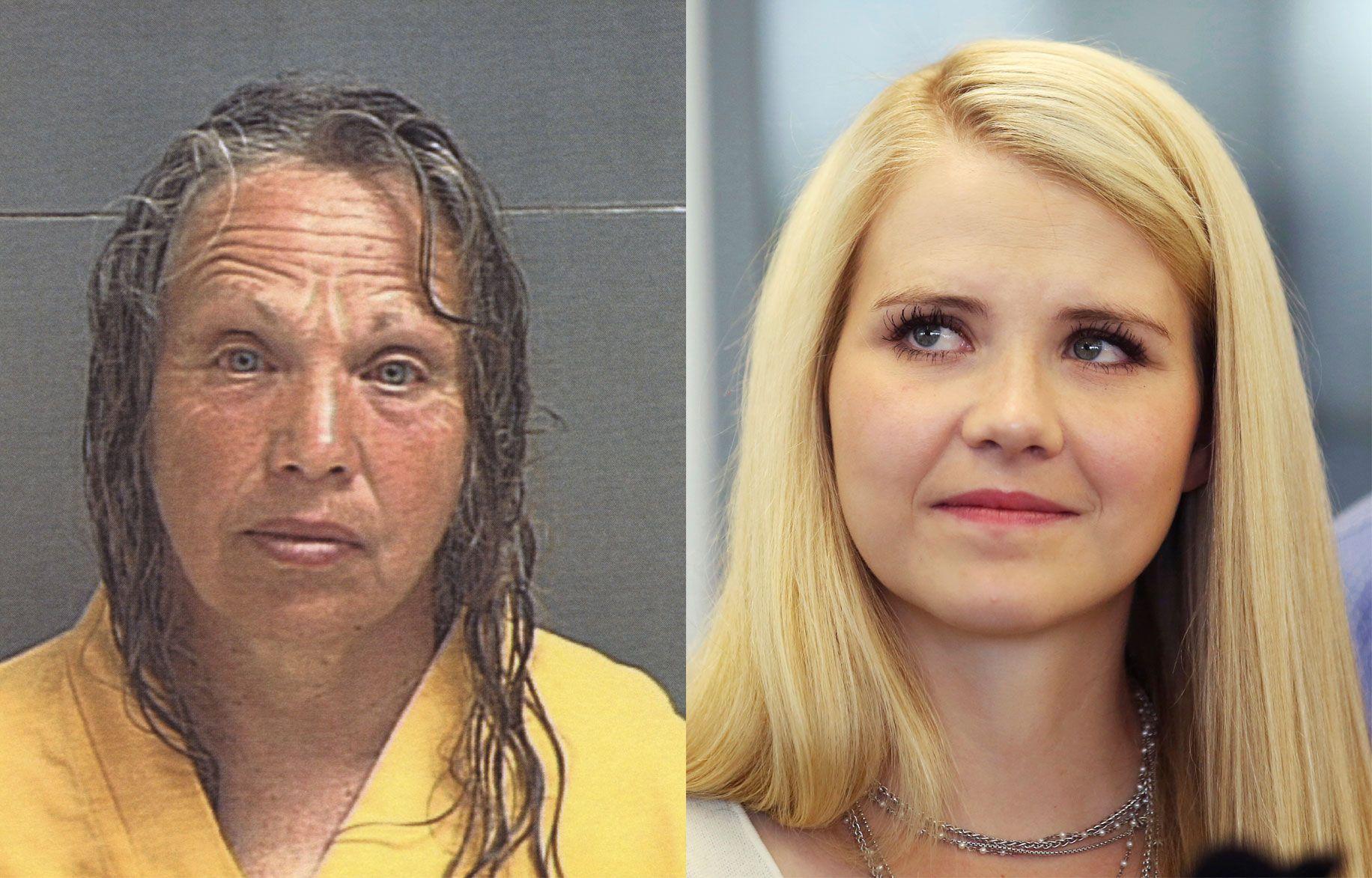 KIDNAPPER OG OFFER: Wanda Barzee (t.v.) er er her avbildet etter arrestasjonen i 2003. Bildet av Elizabeth Smart er fra i fjor.