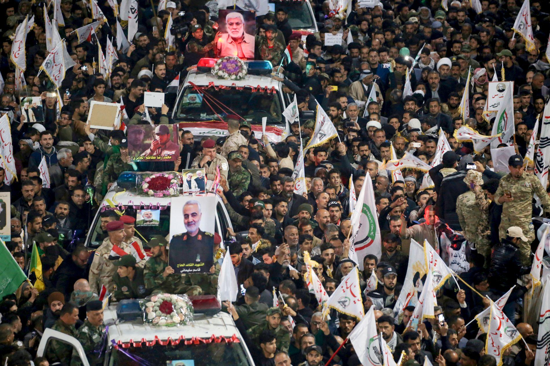 Generalens siste reise: Soleimanis kiste fraktet gjennom Irak