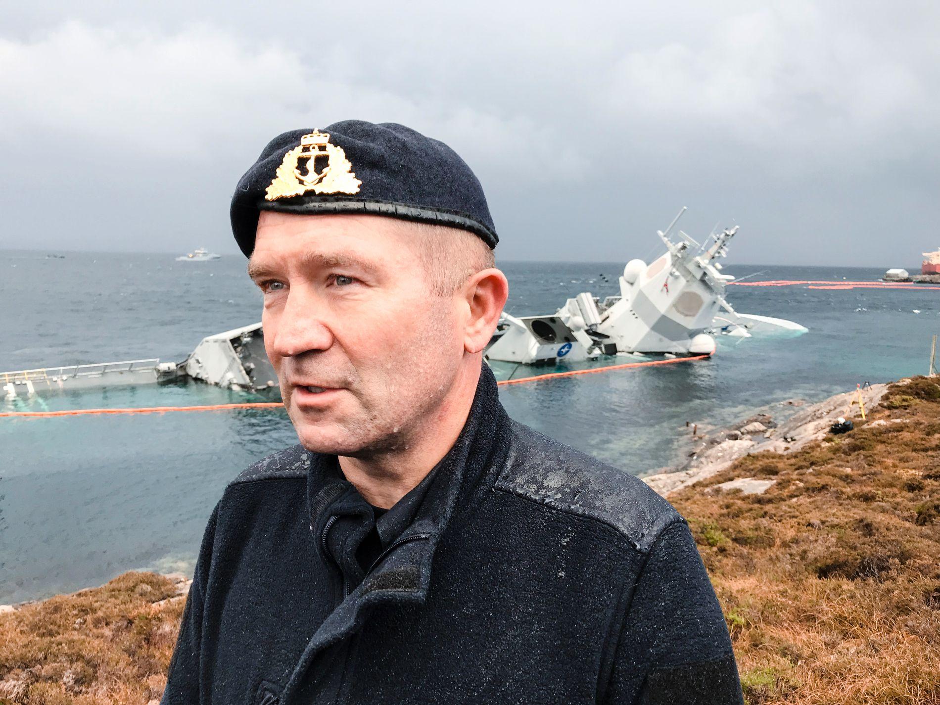 VED HAVARISTEN: Flaggkommandør Yngve Skoglund, sjef for Nasjonalt sjøoperasjonssenter.