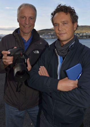 I GRATANGEN: VG-fotograf Terje Mortensen og reporter Nilas Johnsen