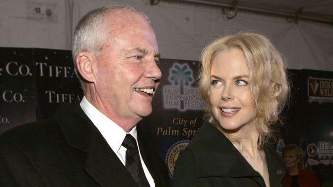 DØDE: Faren til Nicole Kidman, Anthony Kidman døde fredag morgen som følge av et fall på hans hotellrom i Singapore.