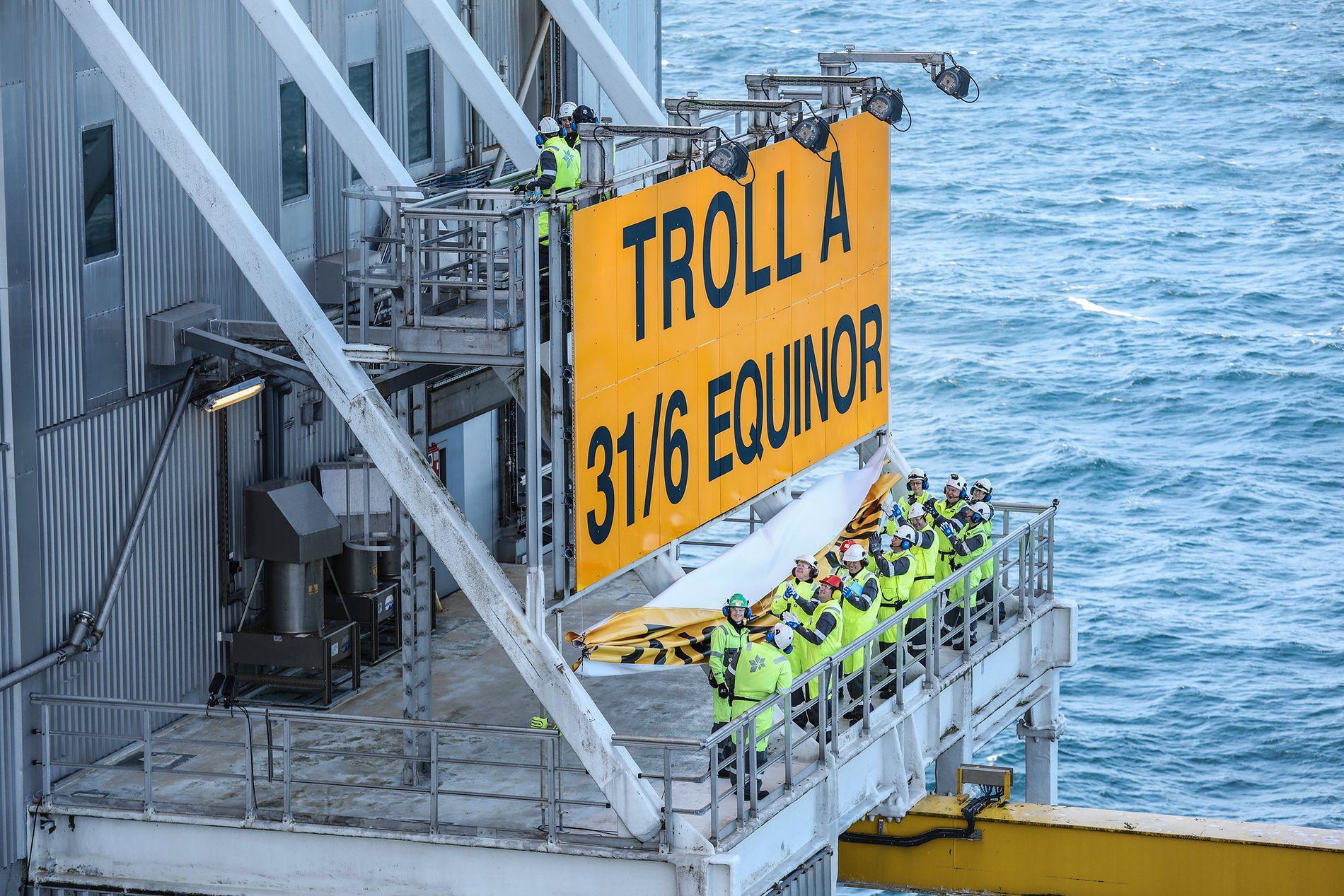 FJERNET LOGO: Det nye navnet pryder nå oljefeltet Troll.