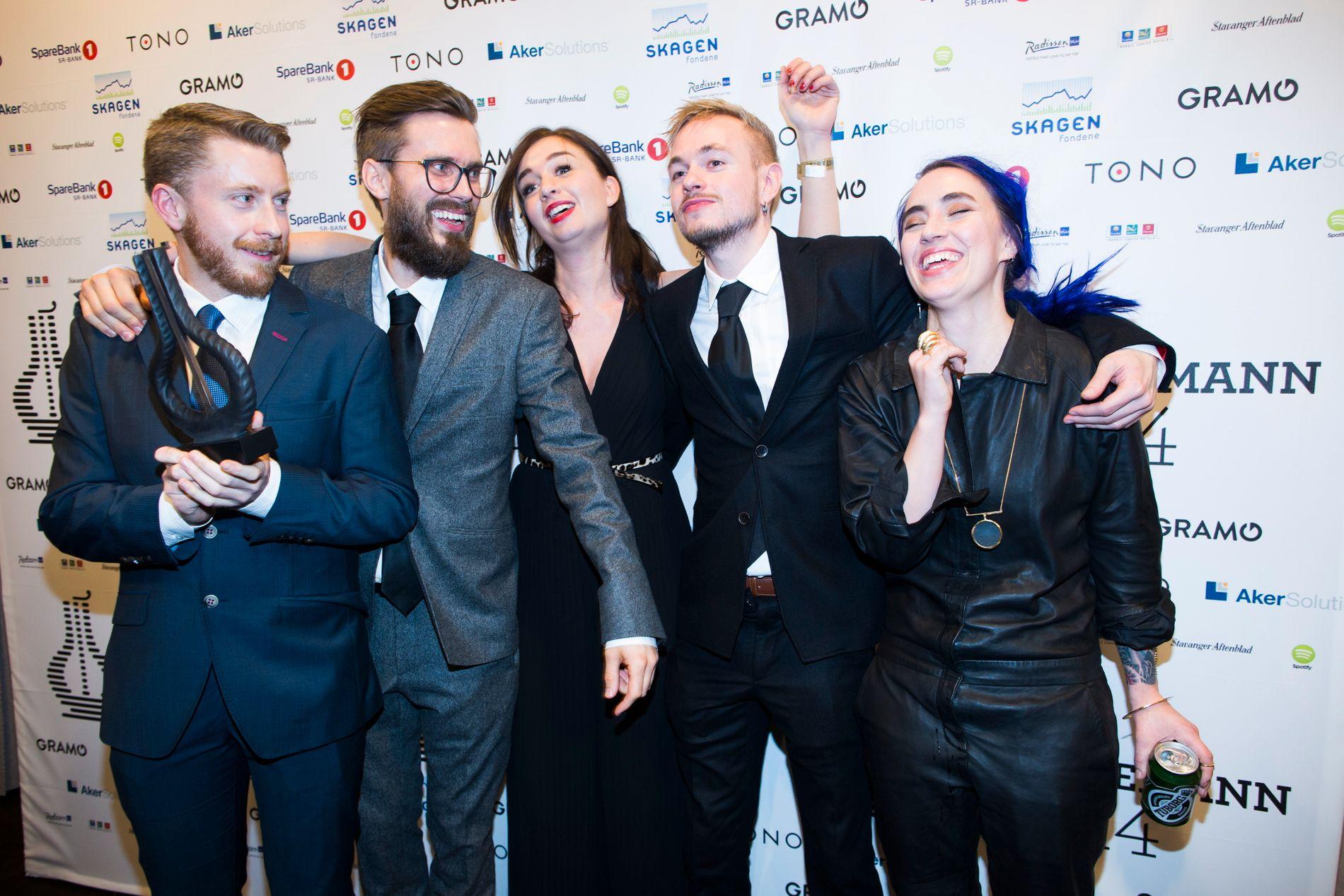 GLADASAKITE: Bandet hentet hjem to priser ved Spellemann-utdelingen januar 2015.