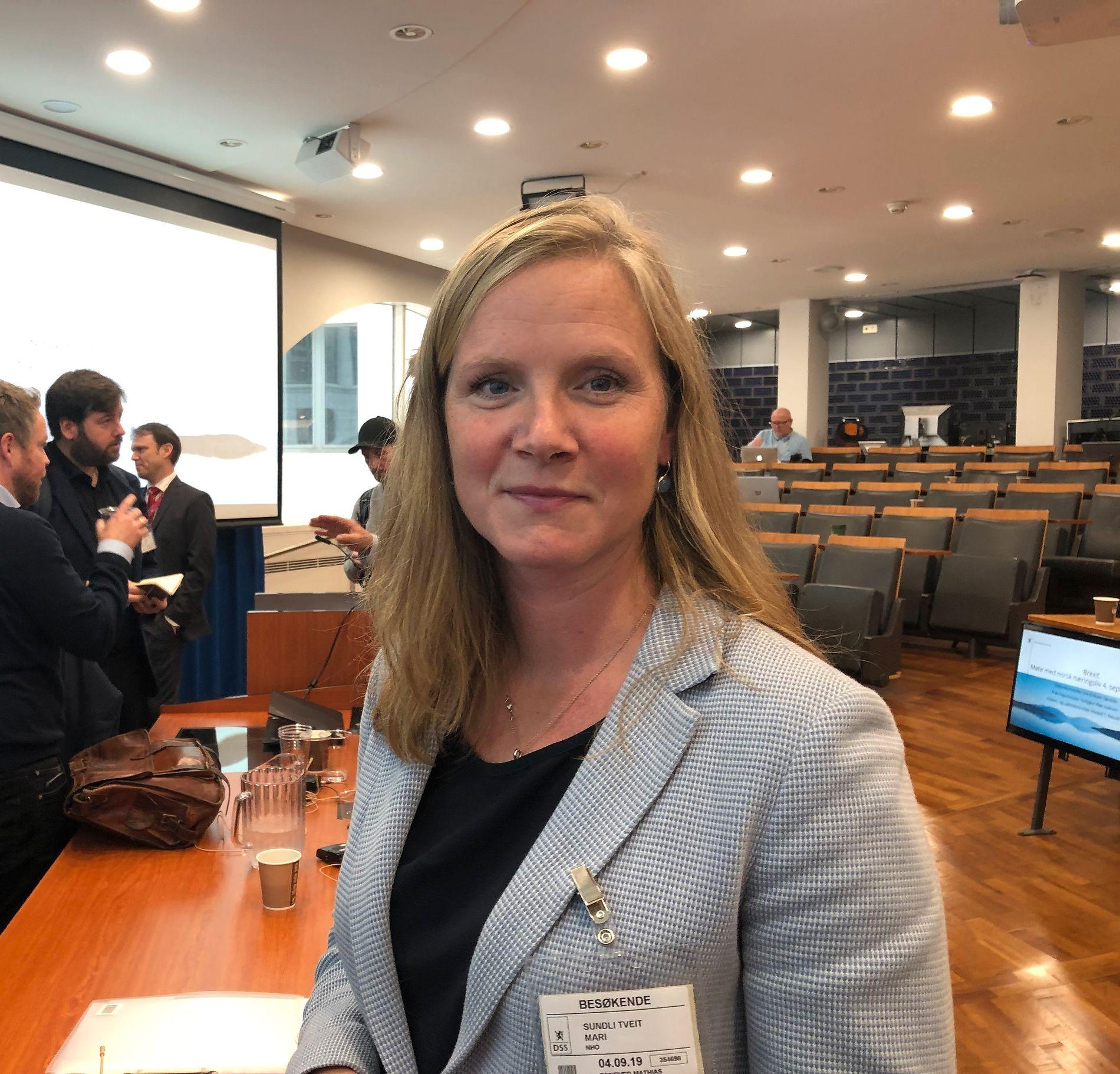 Mari Sundli Tveit, direktør for politikk i NHO.