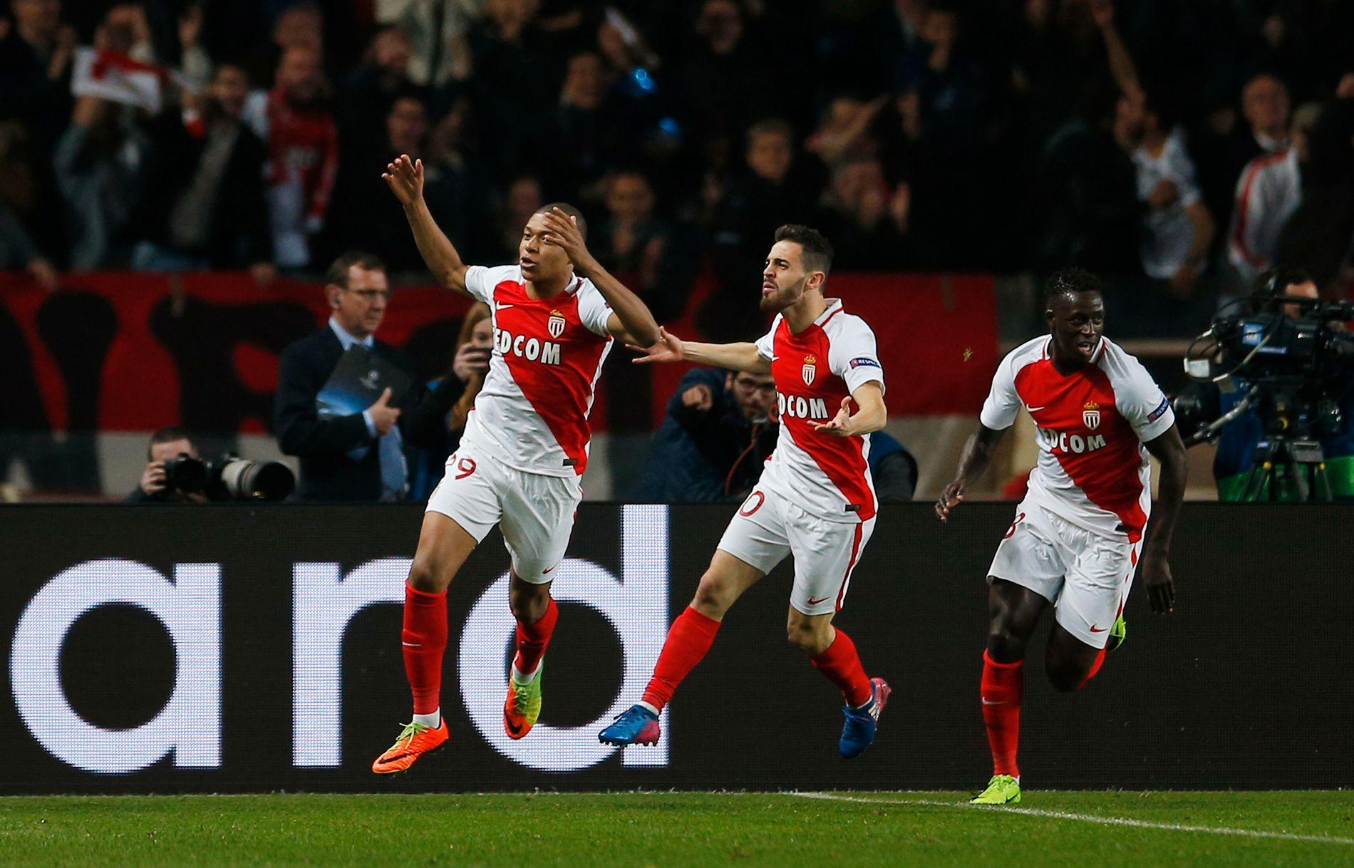 PENGEMASKINER: Monaco har solgt Bernardo Silva (i midten) og Benjamin Mendy (t.h.) til Manchester City. Trolig forlater også Kylian Mbappé (t.v.) klubben denne sommeren.