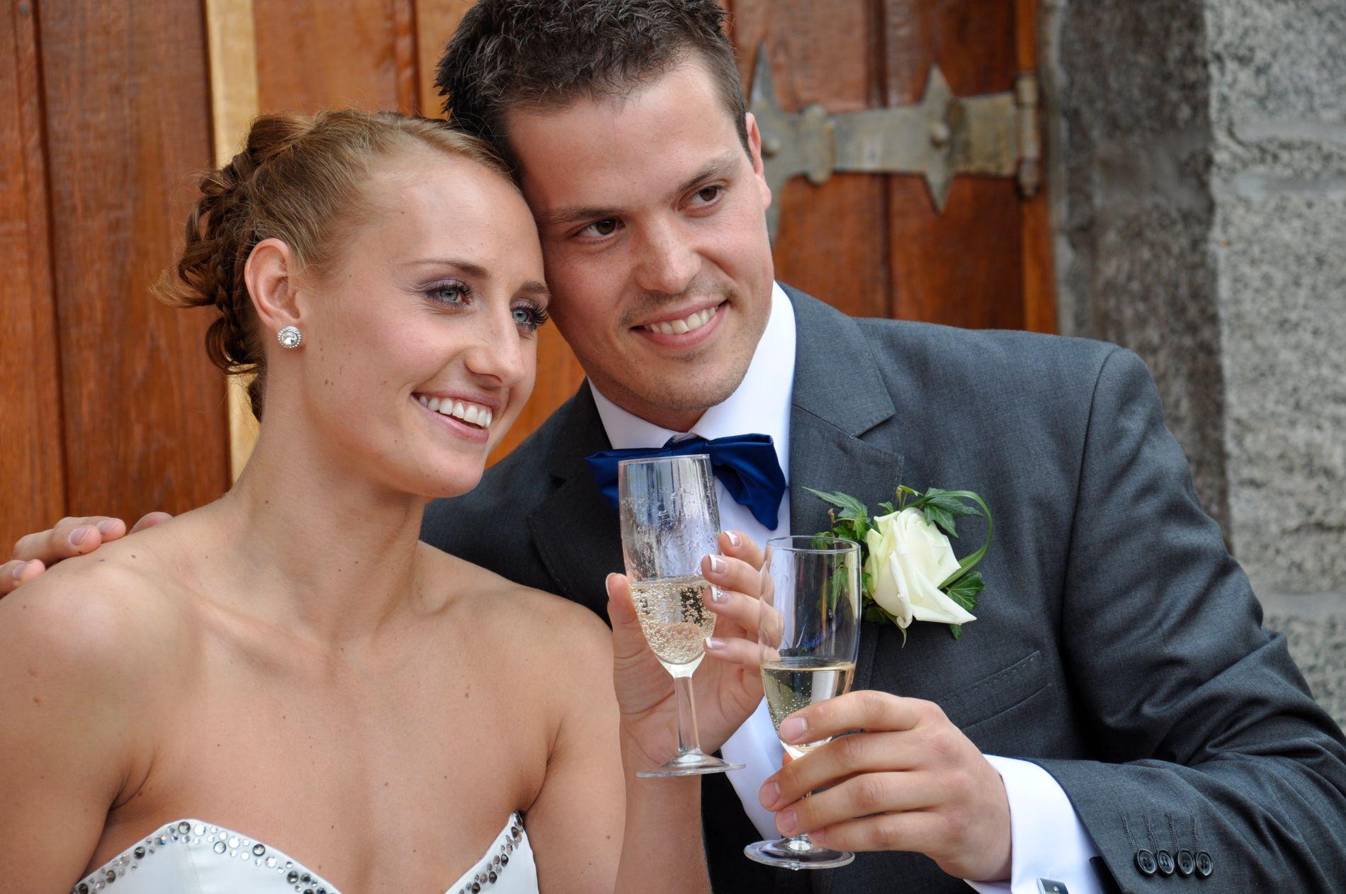NYBAKTE FORELDRE: Camilla Herrem og Steffen Stegavik, her fra bryllupet i 2013.