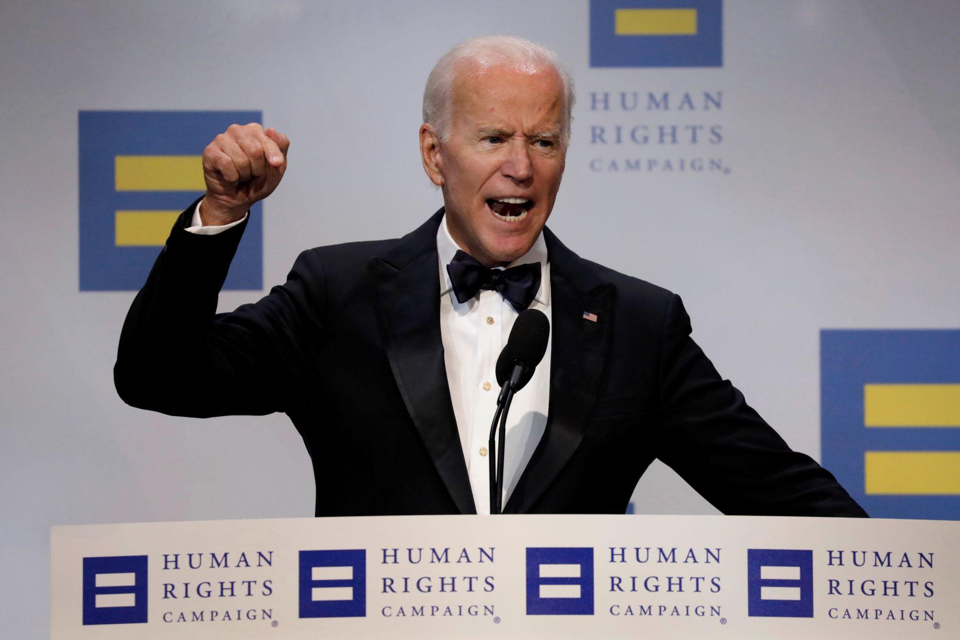 OLD-TIMER: Joe Biden.