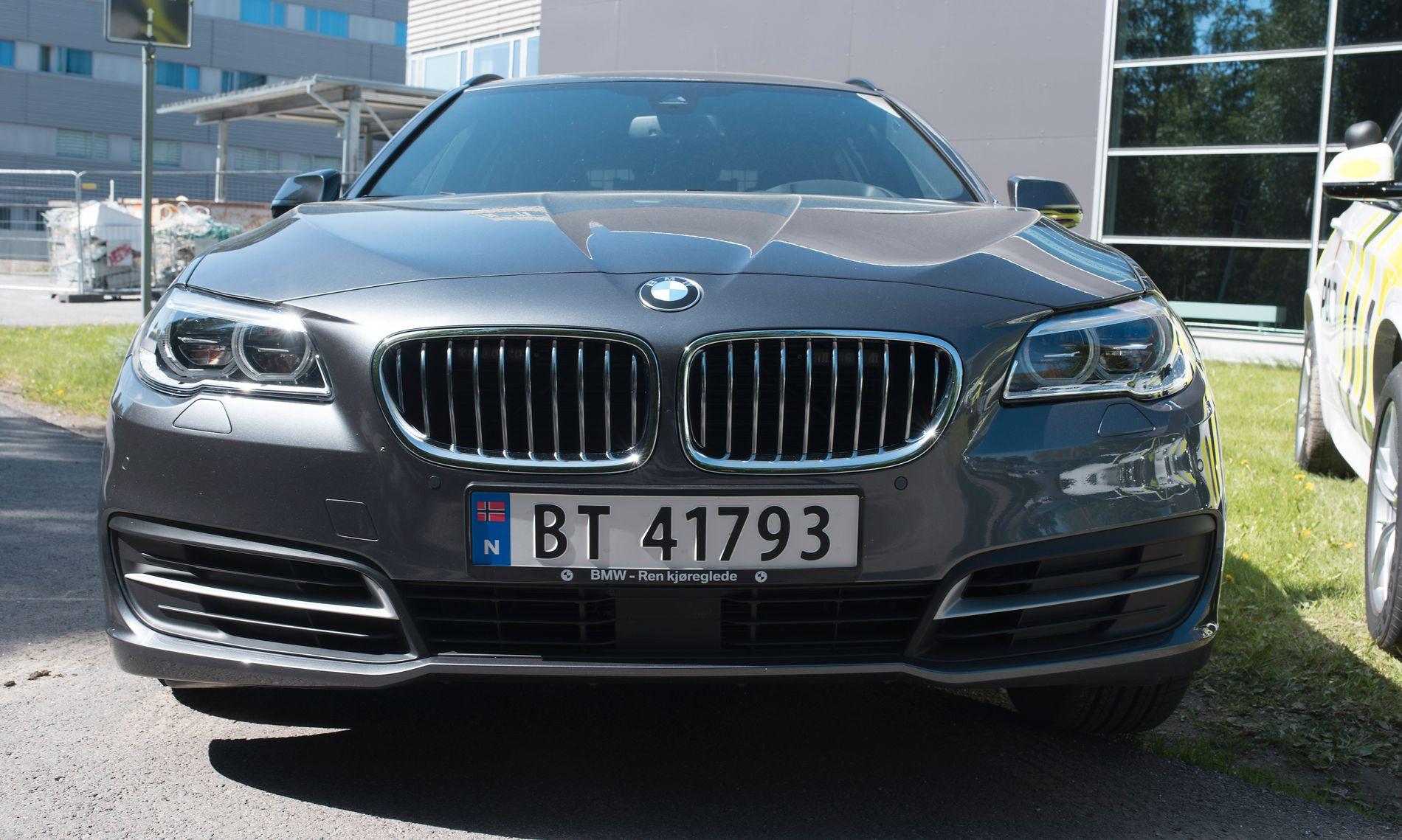 BMW-GLISET: Politiet viser fram de nye patruljebilene på Gardermoen. Foto: Torkjell Jonsson Trædal