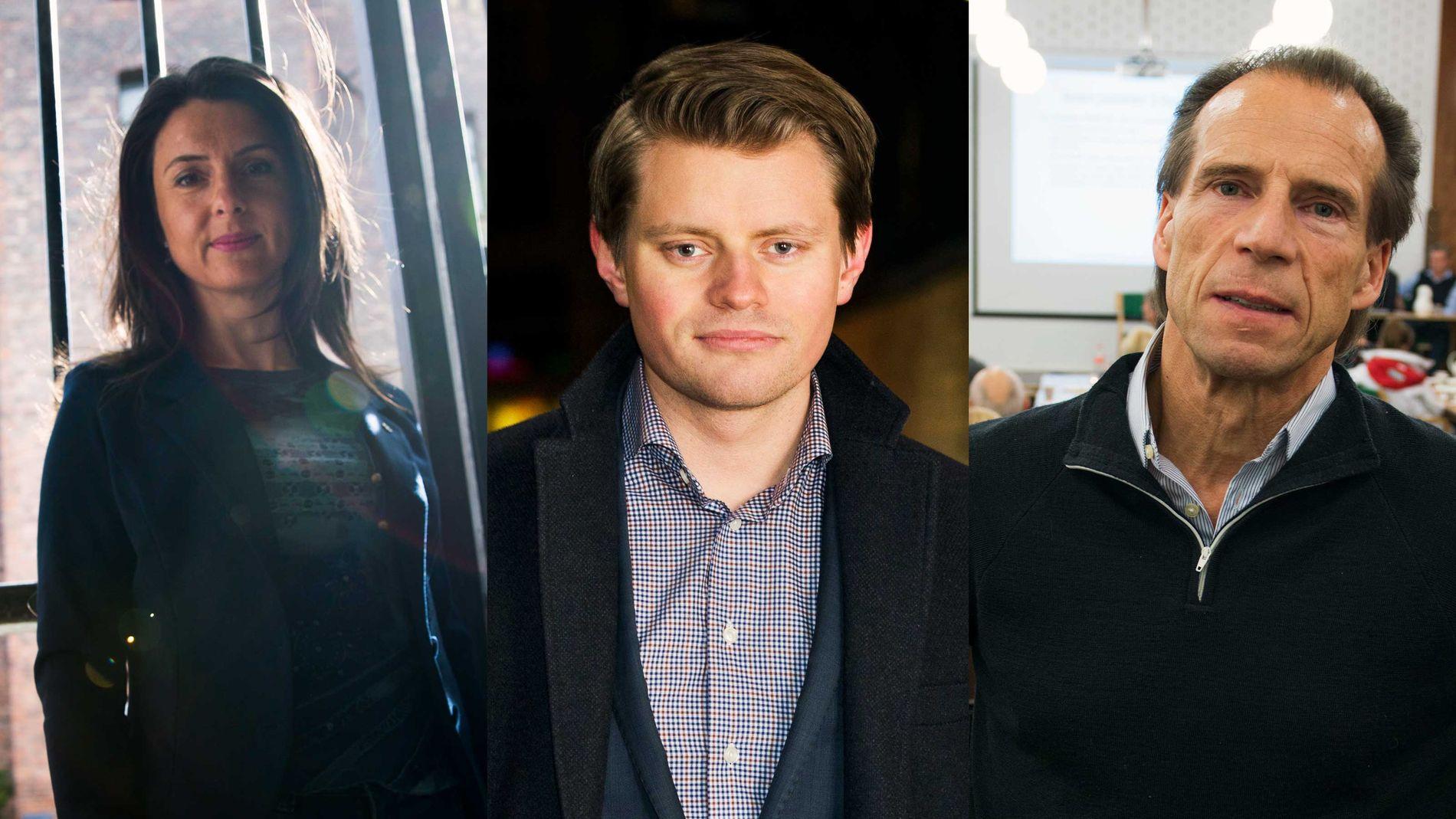 REAGERER: Jenny Klinge (Sp), Jan Bøhler (Ap) og Peter Frølich (H) er alle kritiske politiets bruk av påtaleunnlatelser mot utpekte gjengkriminelle.