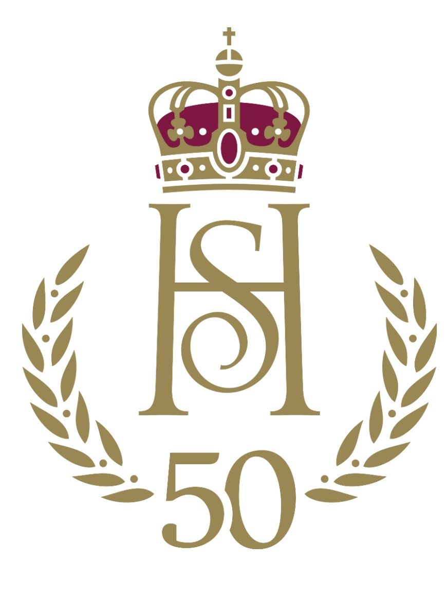 Det er 50 år siden bryllupet fant sted i Oslo domkirke 29. august 1968. I den anledning er det utarbeidet et eget jubileumsmonogram.