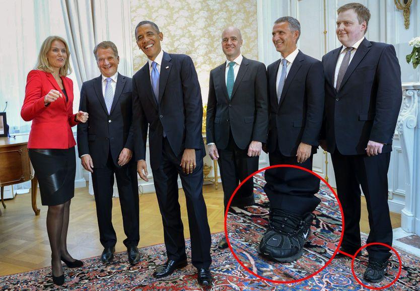 Statsminister møtte Obama med joggesko