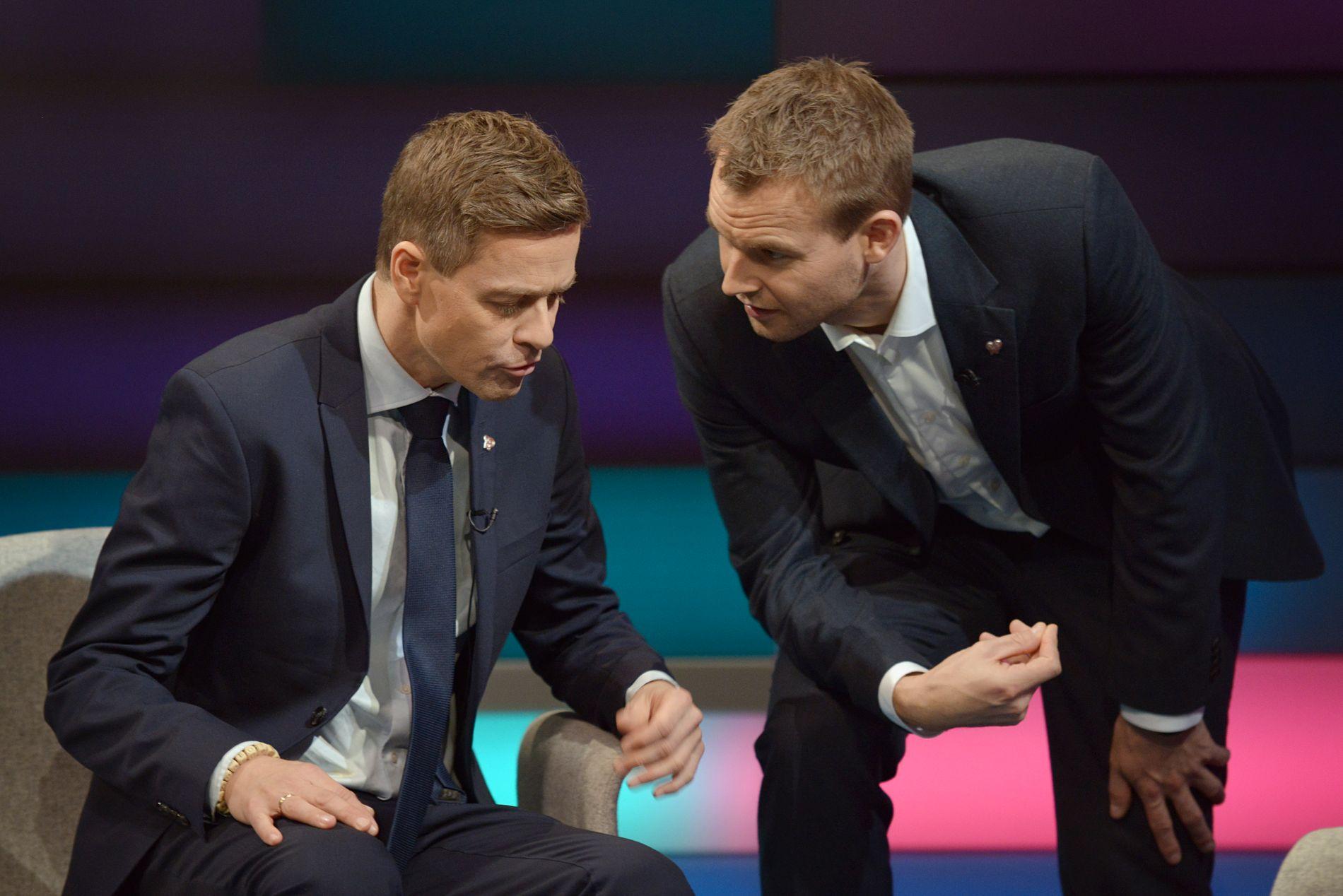 PERLEVENNER: KrF-politikerne Knut Arild Hareide og Kjell Ingolf Ropstad