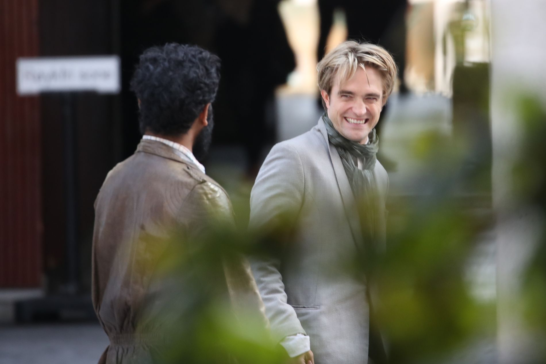 STORFORNØYD: Robert Pattinson på Tjuvholmen.