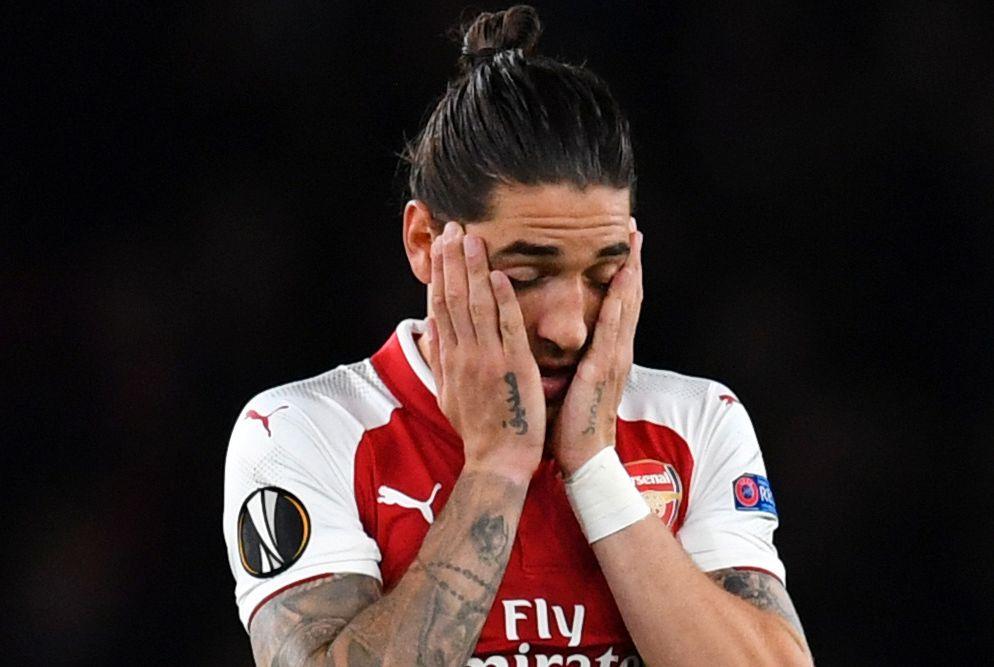 SKRIK: Hector Bellerin og Arsenal maktet bare 1–1 hjemme mot Atlético, det selv om laget spilte med én mann mer i 80 minutter.