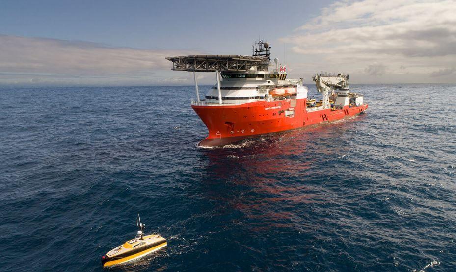 SPESIALBÅT: Her er «Seabed Constructor» ved en tidligere anledning. Nå er det norske skipet på nytt leid inn til en stor og vanskelig leteaksjon under vann.