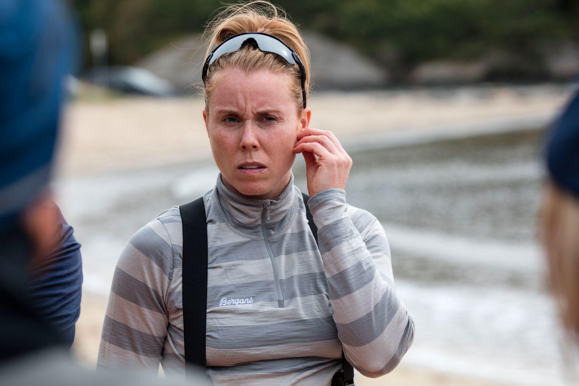 UT PÅ TUR: Karoline Dyhre Breivang reiste på «71 grader nord»-innspilling bare ti måneder etter at hun ble mamma for første gang.