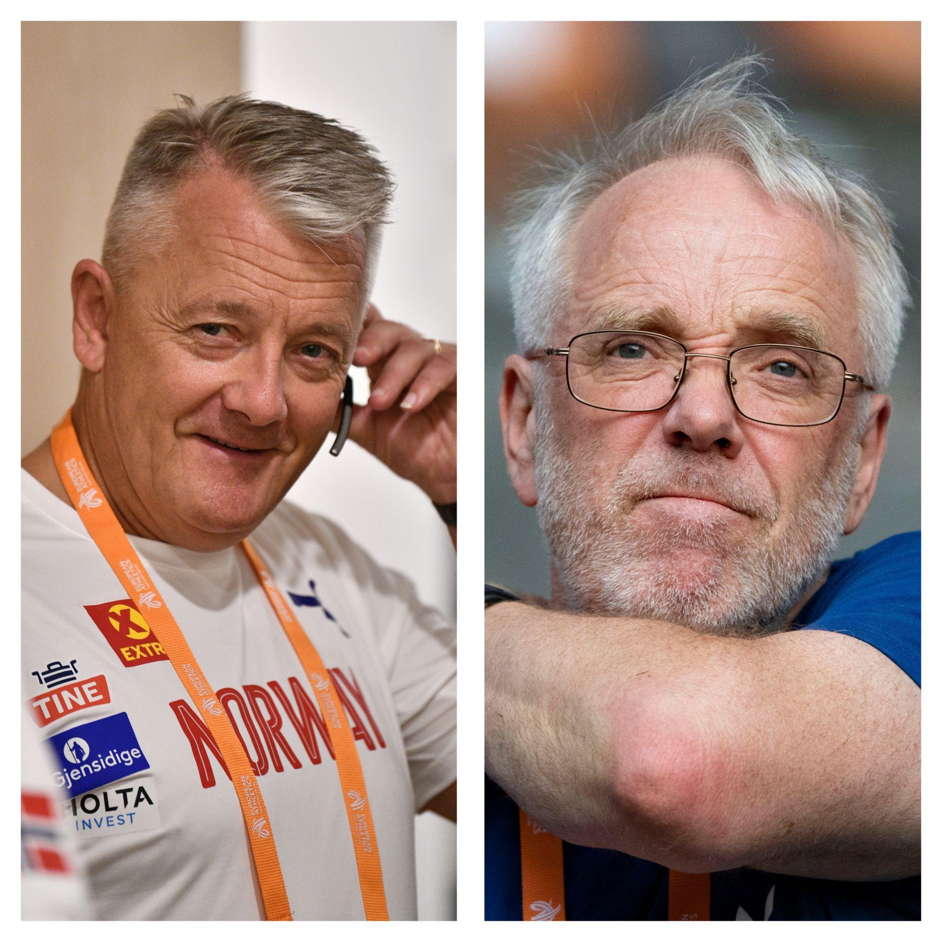 SUPERTRENER: Gjert Ingebrigtsen og Leif Olav Alnes har igjen trent frem utøvere til mesterskapsmedalje. Tidligere toppidrettssjef, Bjørge Stensbøl, mener de er to av verdens beste trenere.